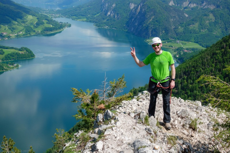 Johannes and the mondsee (Climbing Holiday June 2019)