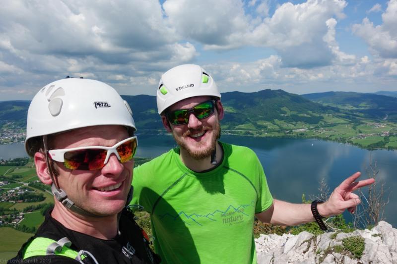 Us at the top (Climbing Holiday June 2019)