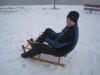 Cris is a sledding machine (Switzerland)