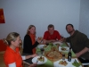 Eating pizza at Grit's 2 (Sonthofen, Germany)