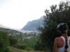 Frauke and view towards Riva (Lago di Garda, Italy)