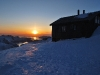 Hut in the evening (Ski touring Glomfjord, Norway)
