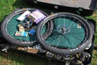Wheels in bike box (Portugal ARWC 2009)