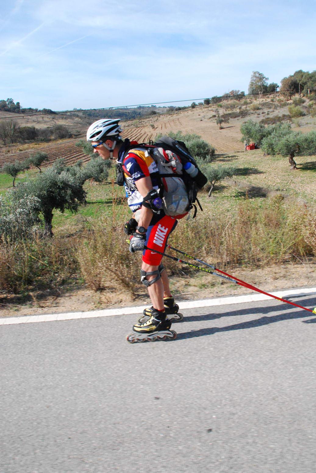 Chris descends on the skates (Portugal ARWC 2009)