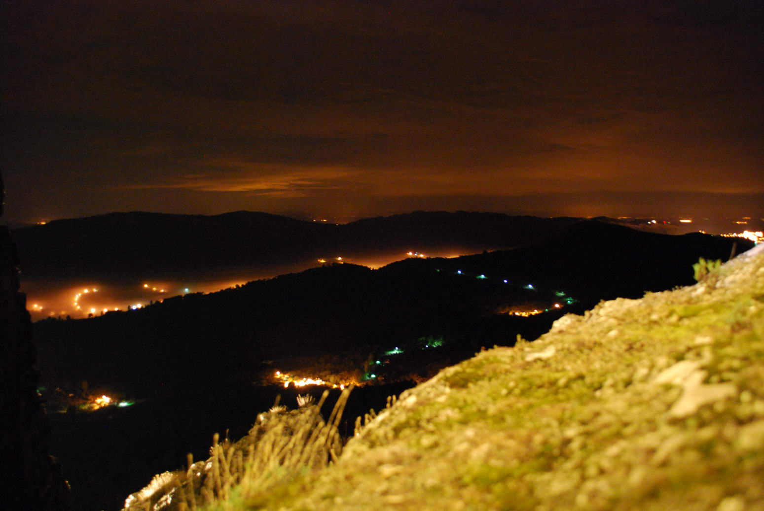 View from castle by night (Portugal ARWC 2009)