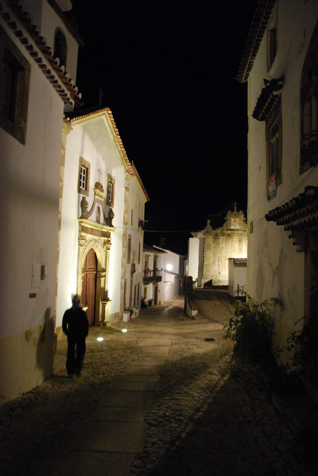 Walking down from the castle by night (Portugal ARWC 2009)