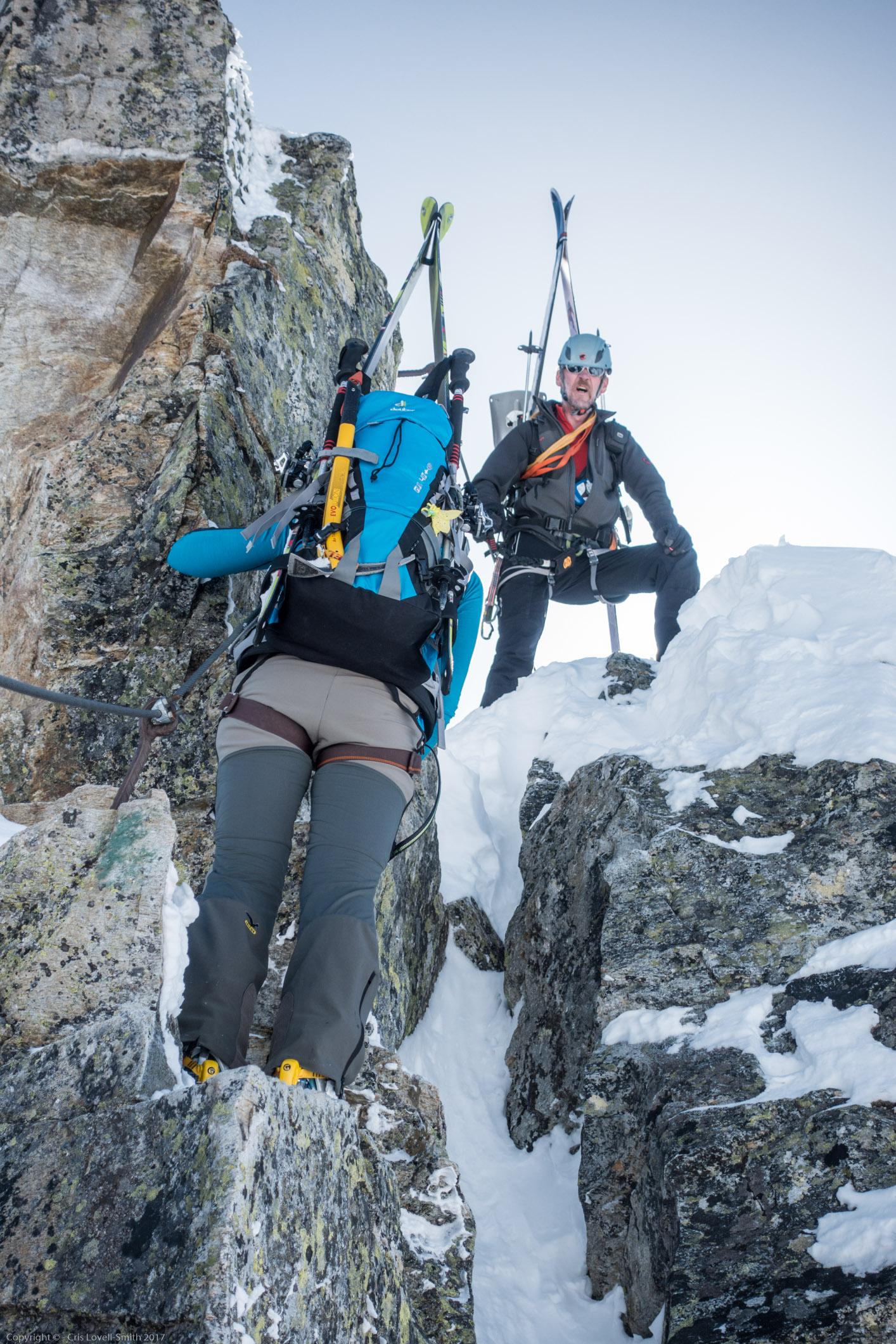 D section (Arlberger Winterklettersteig March 2017)