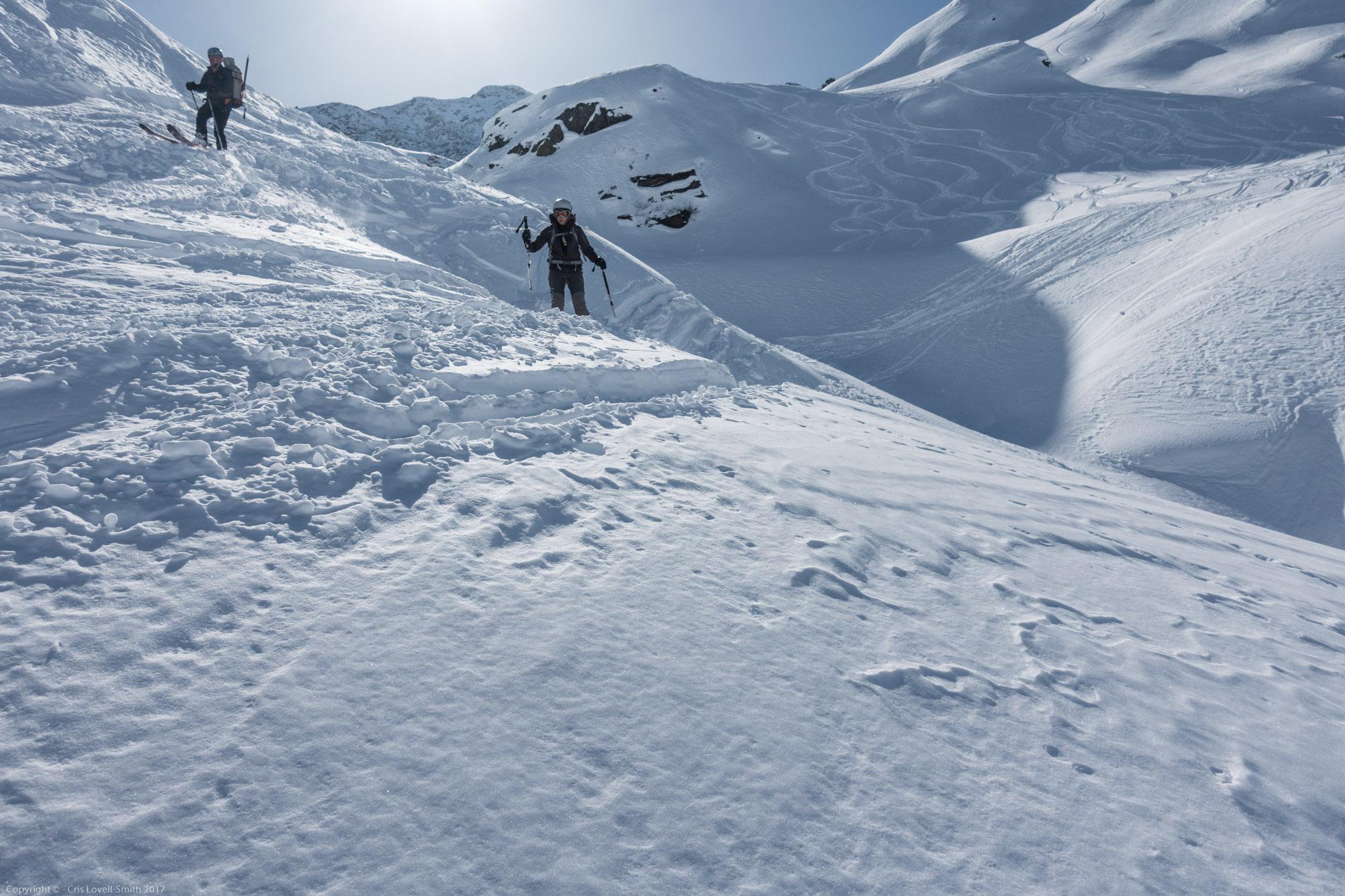 Heading down (Arlberger Winterklettersteig March 2017)