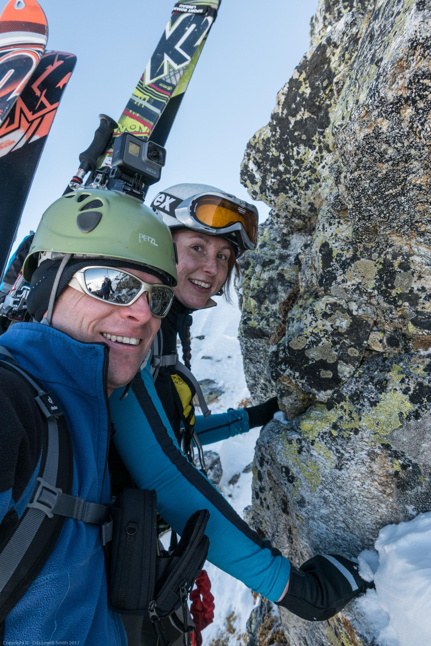 Leonie and Cris (Arlberger Winterklettersteig March 2017)