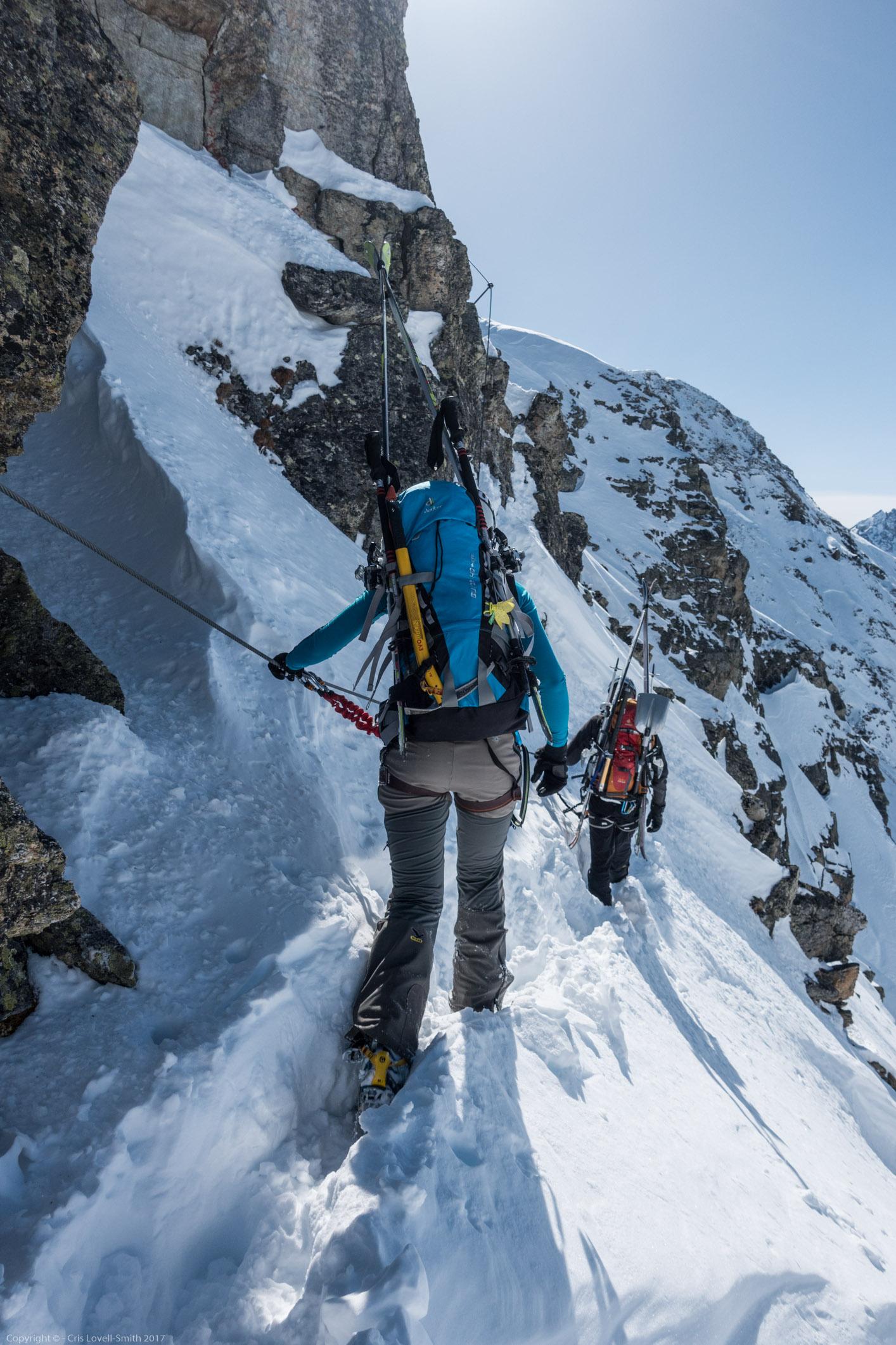 Lovely view (Arlberger Winterklettersteig March 2017)