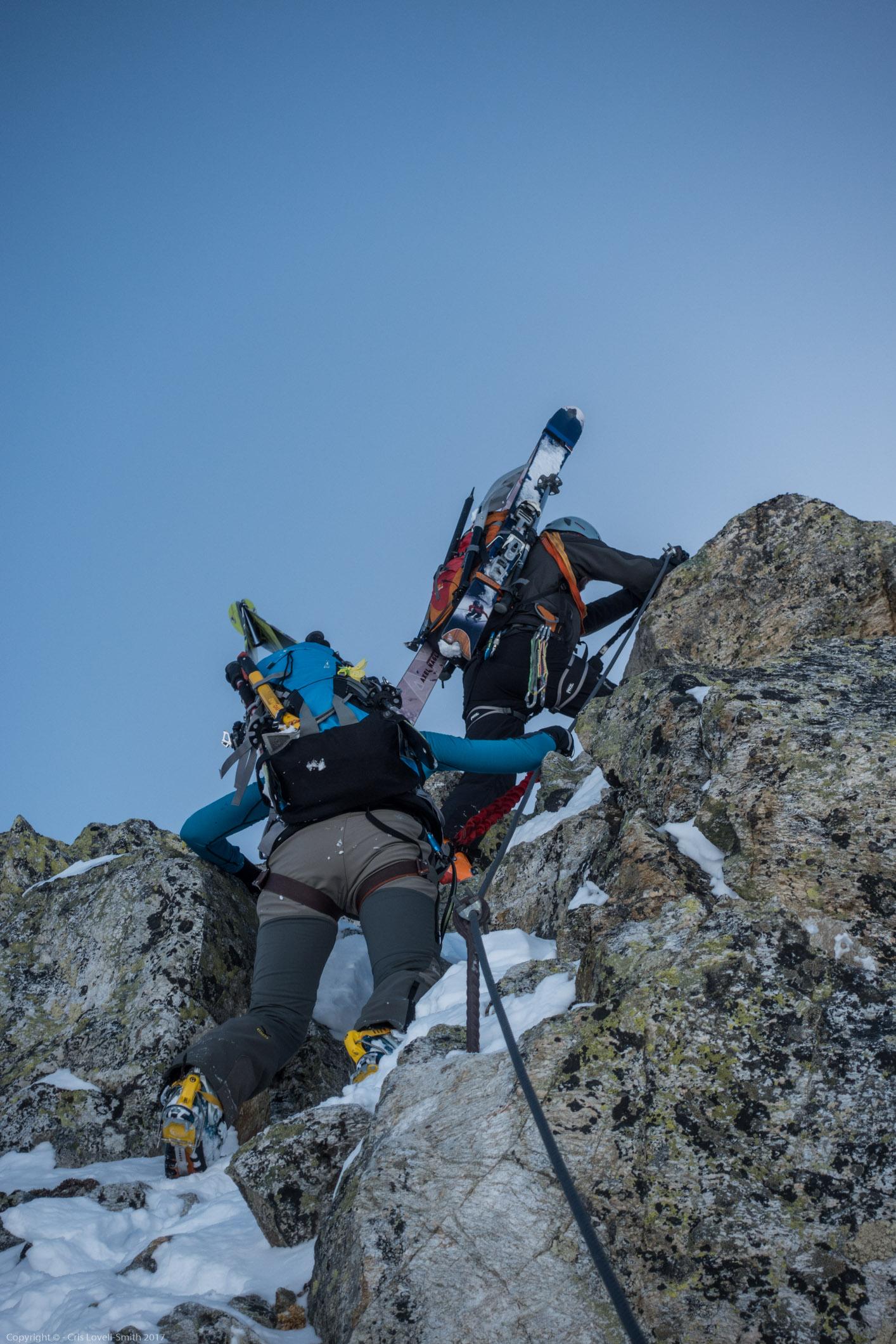 More climbing (Arlberger Winterklettersteig March 2017)