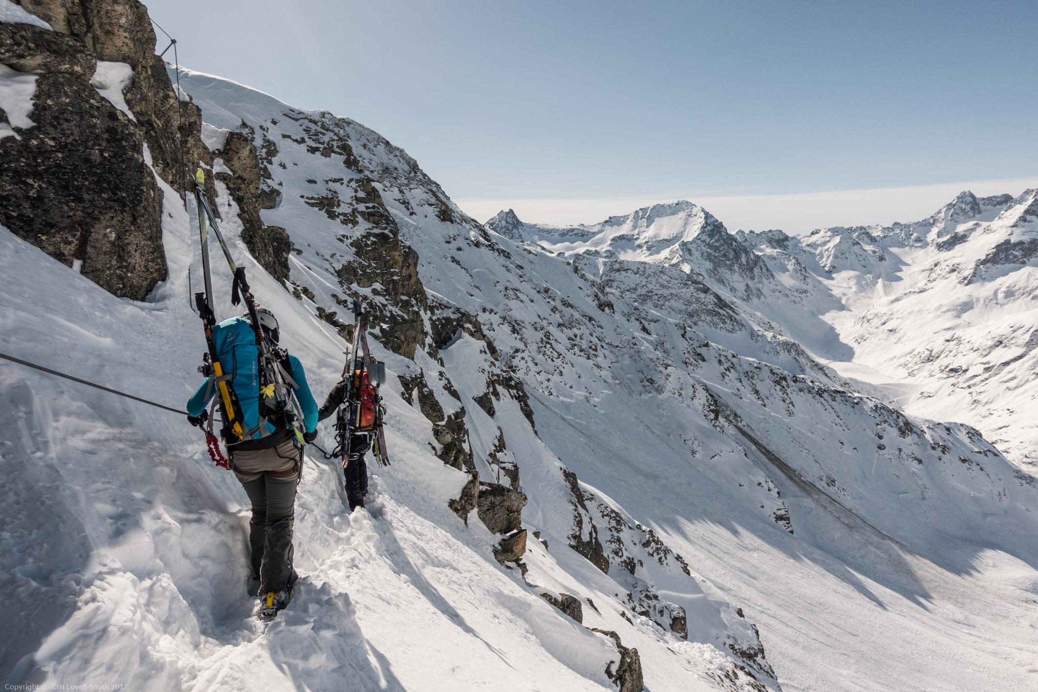 On the side (Arlberger Winterklettersteig March 2017)