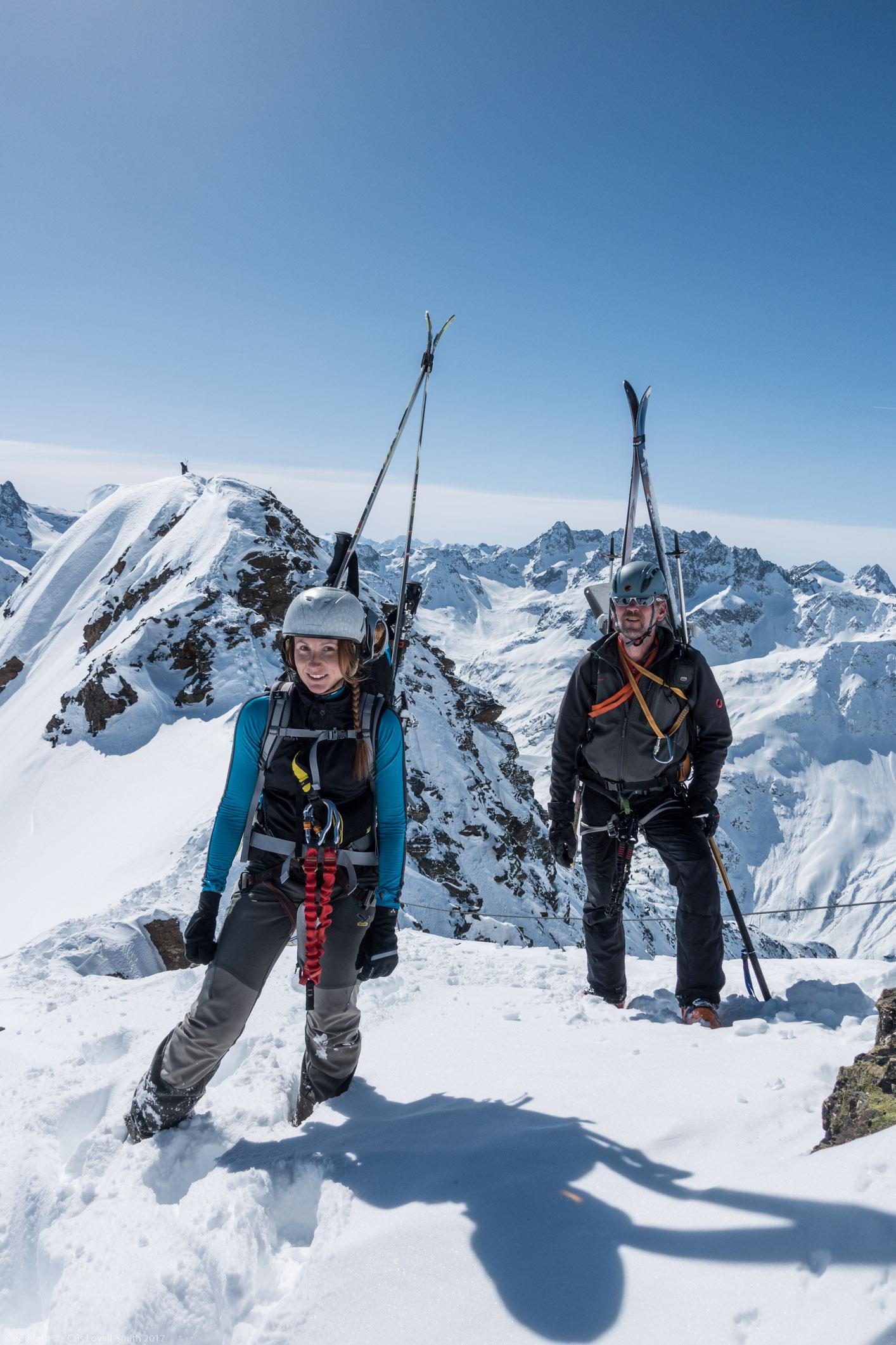 Posing (Arlberger Winterklettersteig March 2017)