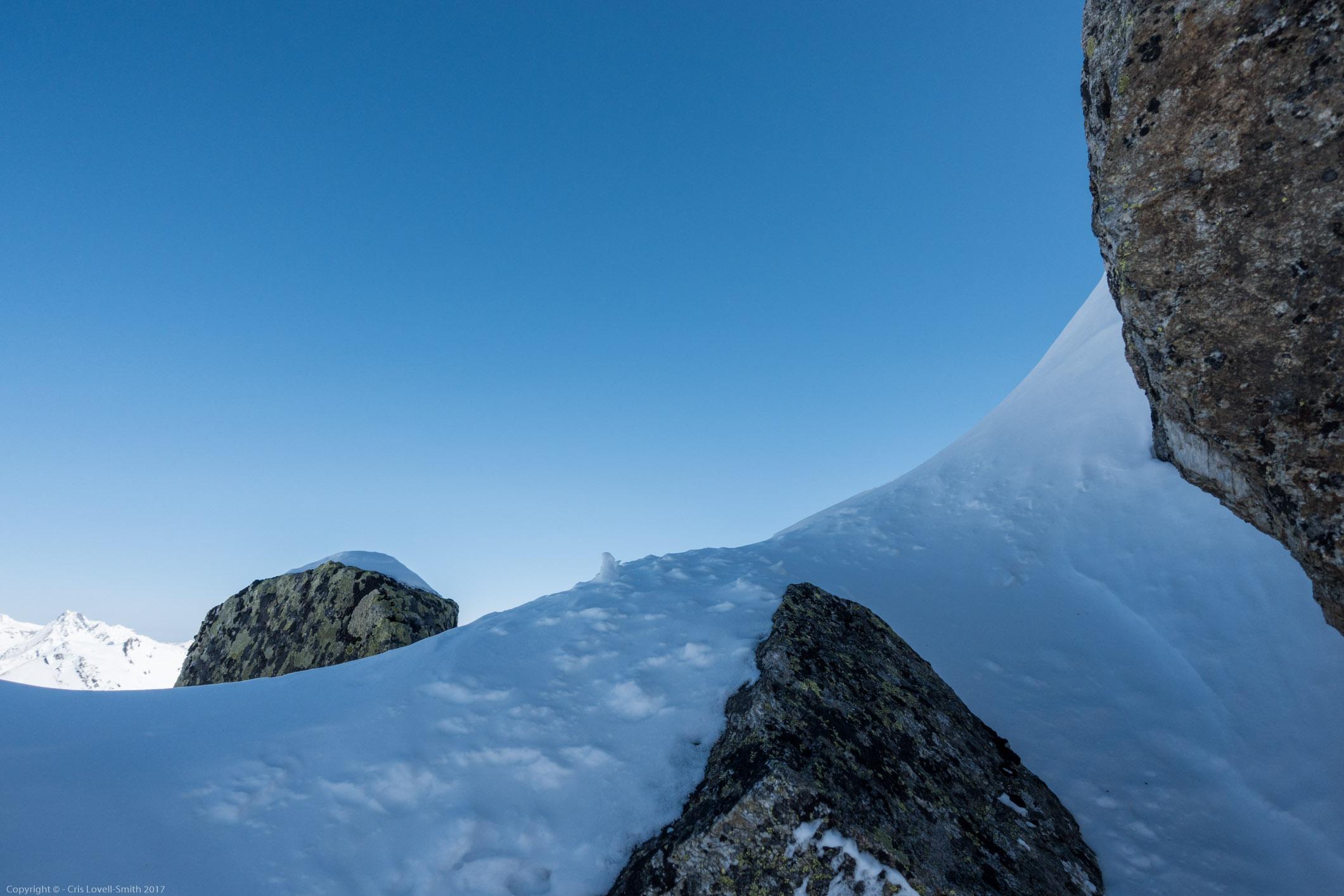Snow, rock and blue (Arlberger Winterklettersteig March 2017)