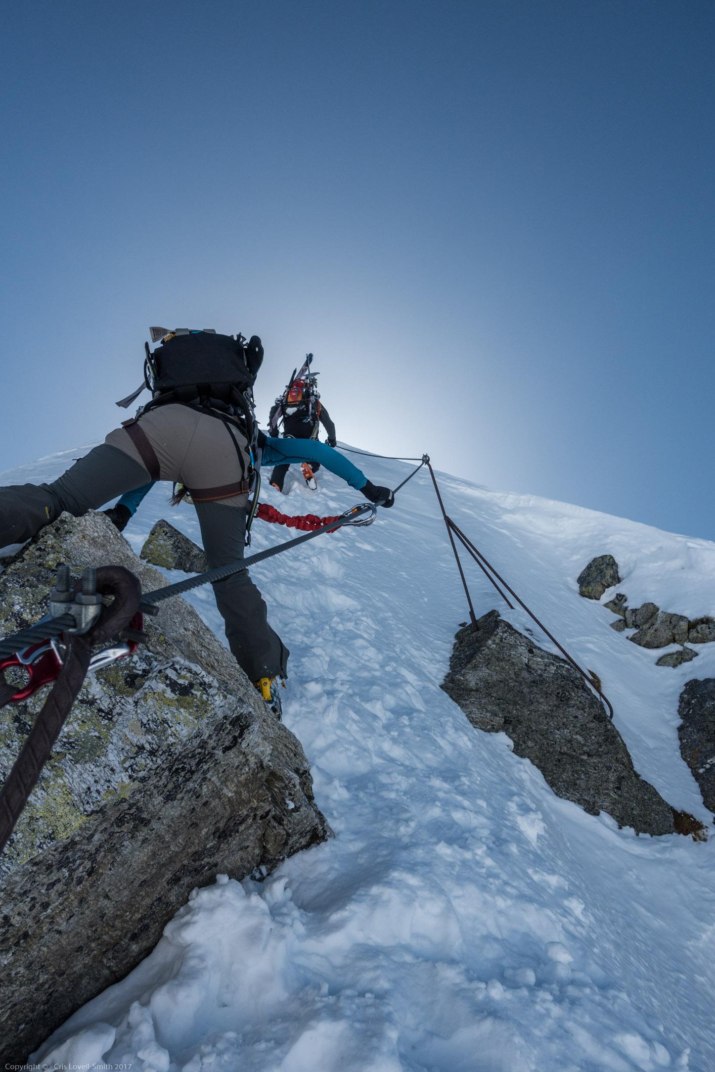 Steep (Arlberger Winterklettersteig March 2017)