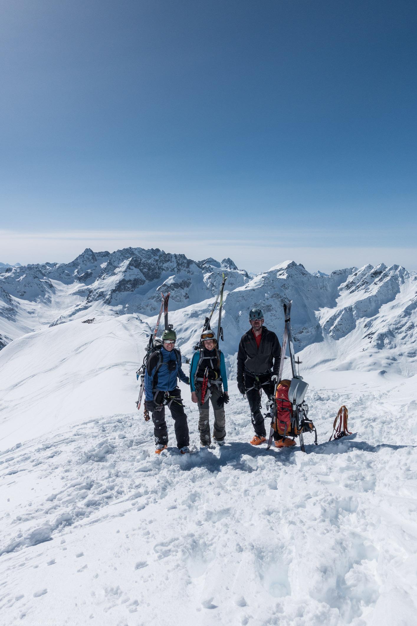 Us on the Mitterkarspitze (Arlberger Winterklettersteig March 2017)