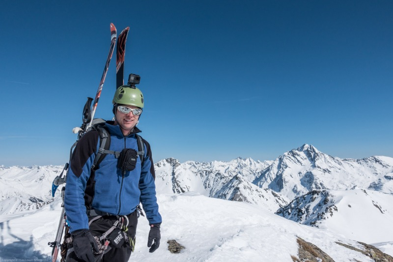 Cris posing 2 (Arlberger Winterklettersteig March 2017)
