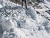 Avalanche debris (Arlberger Winterklettersteig March 2017)