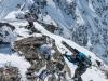 Climbing down 2 (Arlberger Winterklettersteig March 2017)
