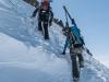 Heading up to the Mitterkarspitze (Arlberger Winterklettersteig March 2017)