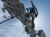 Leonie climbing (Arlberger Winterklettersteig March 2017)