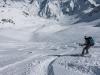 Leonie descending 3 (Arlberger Winterklettersteig March 2017)