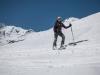Leonie on her skis (Arlberger Winterklettersteig March 2017)