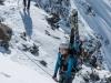 Looking down (Arlberger Winterklettersteig March 2017)