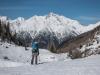Skiing down (Arlberger Winterklettersteig March 2017)