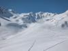 View back up (Arlberger Winterklettersteig March 2017)