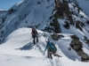 Walking along the ridge (Arlberg Winterklettersteig March 2017)