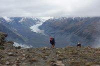 Gina and Jeremy with Tasman Glacier behind (Ball Pass Dec 2013)