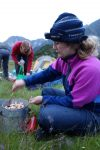 Gina making dinner (Mt Cook Village)