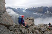 Gina on the ridge (Ball Pass Dec 2013)