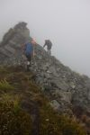 Jeremy and Hazel in the mist (Ball Pass Dec 2013)