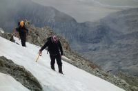 Kenneth and Mikey crossing snow (Ball Pass Dec 2013)
