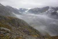 View down to the Tasman Glacier (Ball Pass Dec 2013)