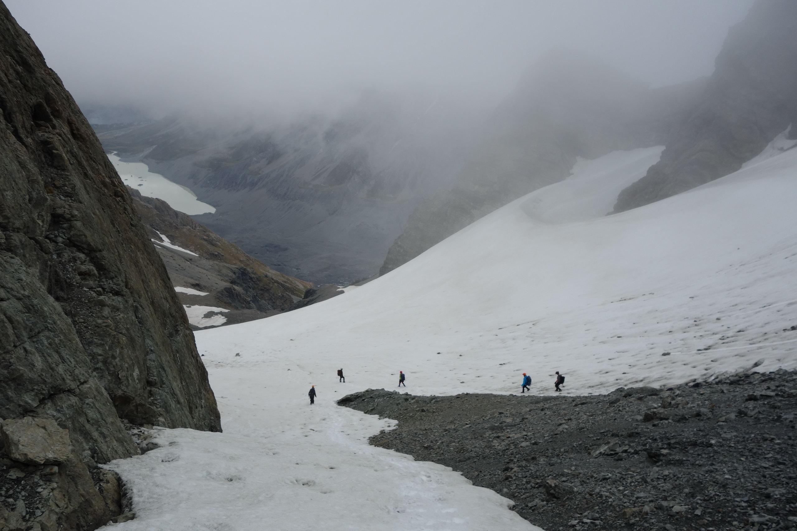 Descending from Ball Pass (Ball Pass Dec 2013)