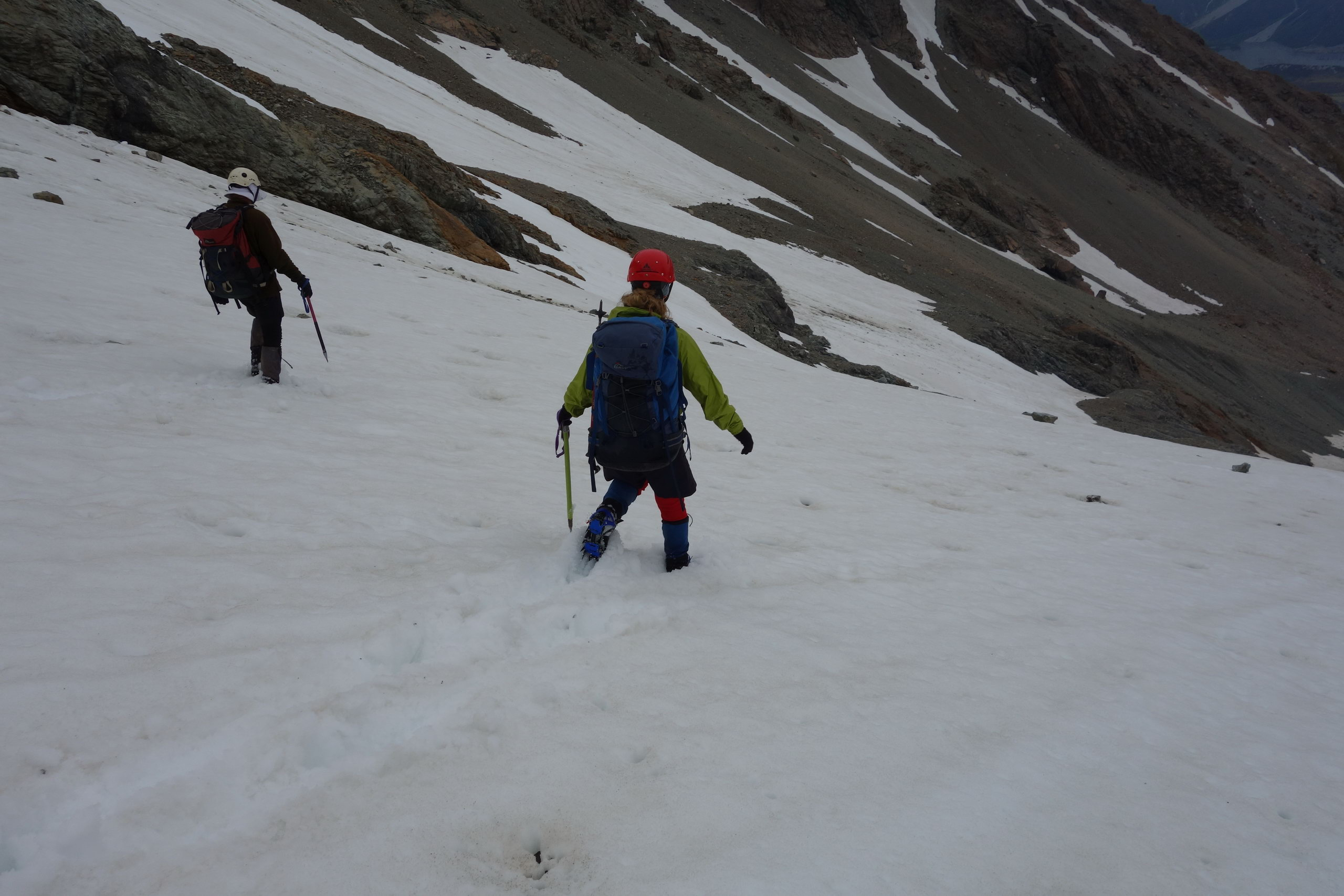 Jeremy and Gina descending (Ball Pass Dec 2013)