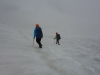 Crossing the snow towards the pass (Ball Pass Dec 2013)