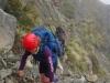 Gina climbing (Ball Pass Dec 2013)