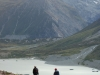 Jeremy and Gina in front of the Hooker Terminal Lake (Ball Pass Dec 2013)