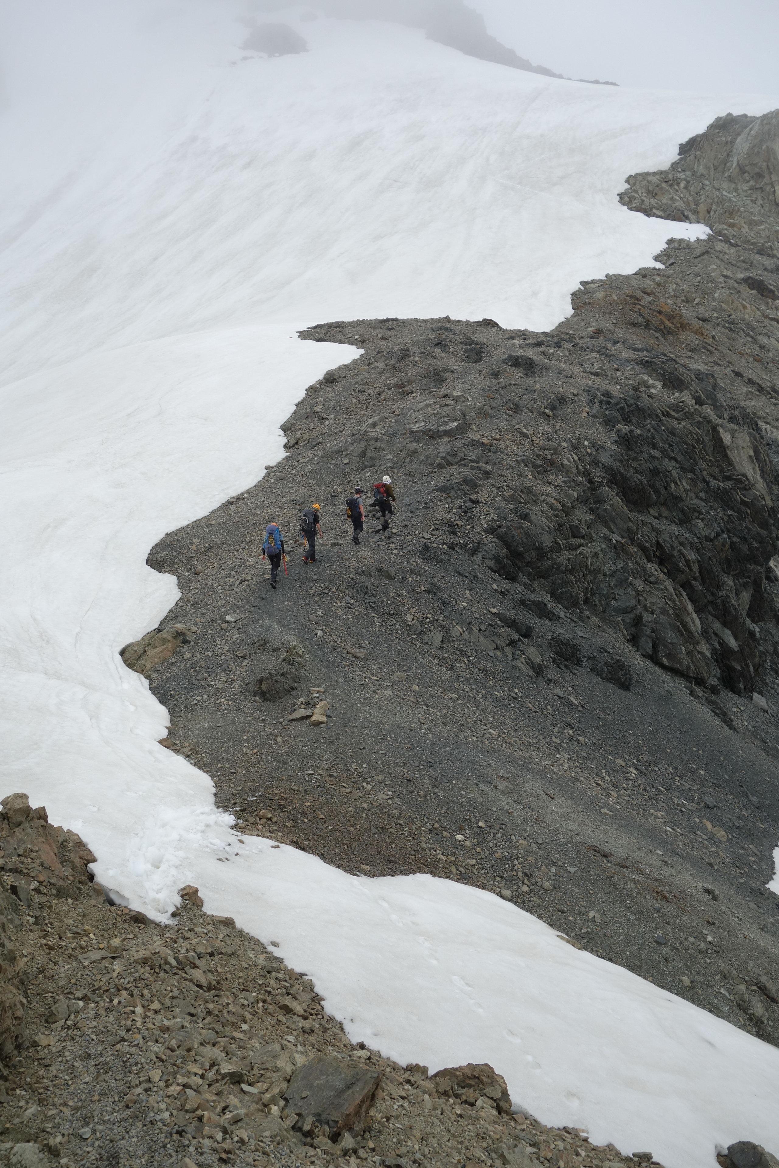 Trudging towards the pass (Ball Pass Dec 2013)