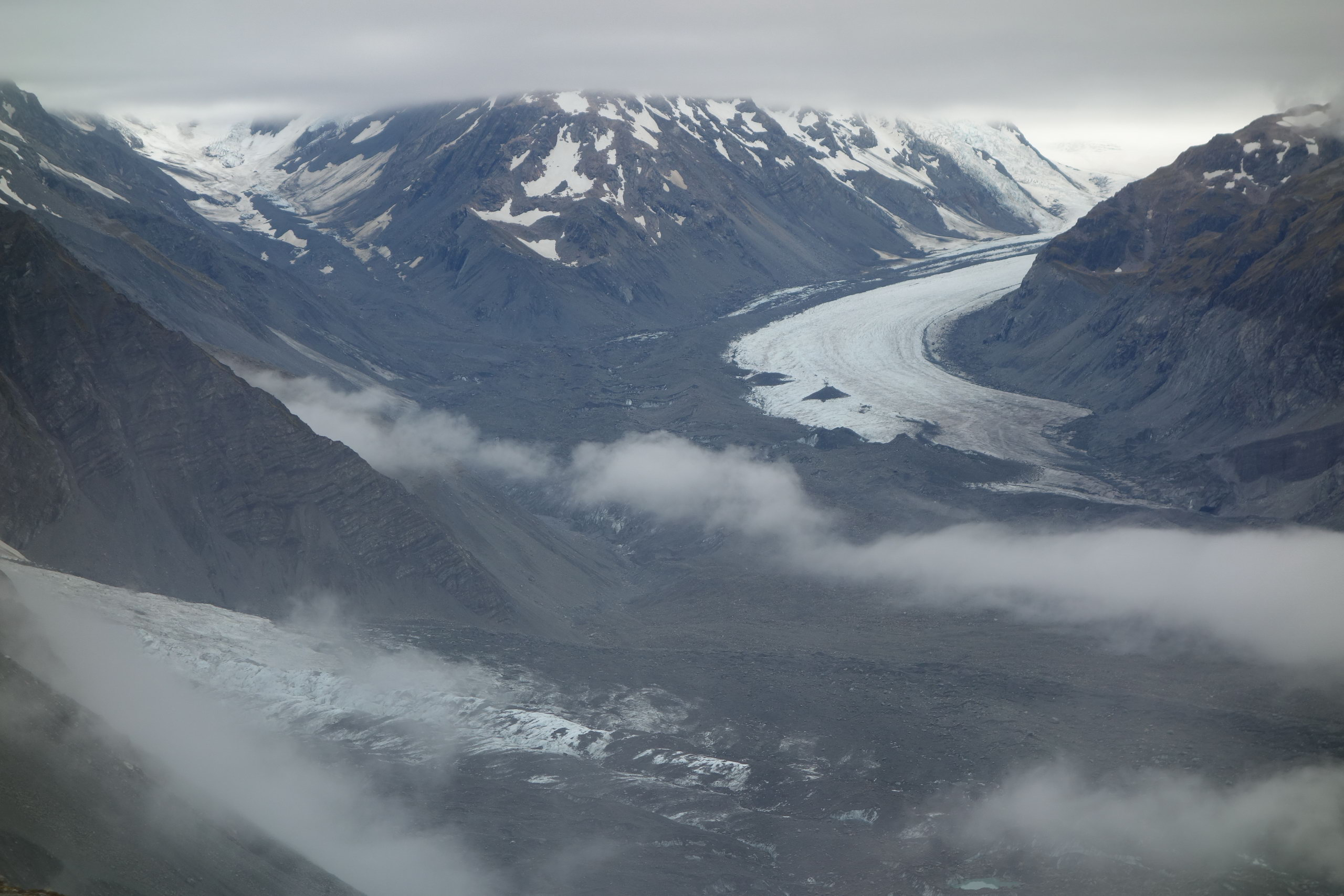 View of the Tasman Glacier (Ball Pass Dec 2013)