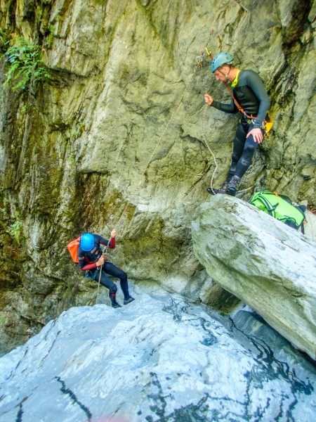 Abseiling (Canyoning Italy 2019)