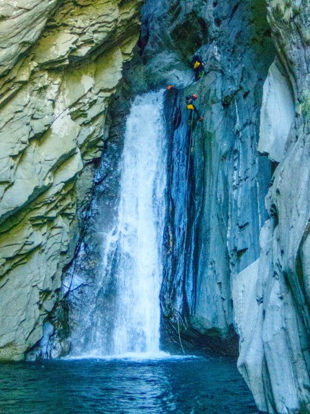 Abseilng (Canyoning Italy 2019)