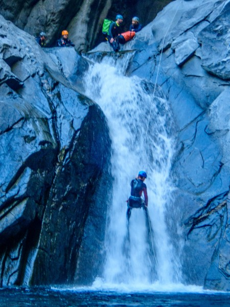 Alec in the flow (Canyoning Italy 2019)