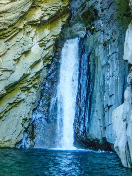 Big waterfall (Canyoning Italy 2019)