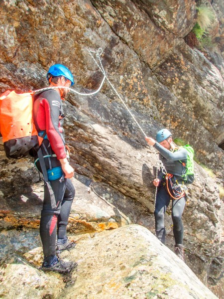Craig abseils (Canyoning Italy 2019)