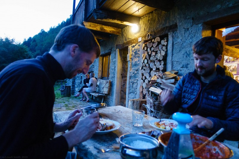 Dinner (Canyoning Italy 2019)